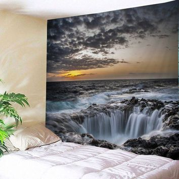 Wall Hanging Art Decor Ocean Hole Print Tapestry