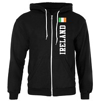 Ireland Flag World Cup Adult Unisex Full Zip Hoodie