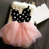 Baby Girls Dress Cute Minnie Mouse Dresses Kids Toddler Skirt Tutu Dress 1-2Year