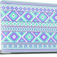 Tribal pattern purple and mint Laptop Skins by Ted | Nuvango
