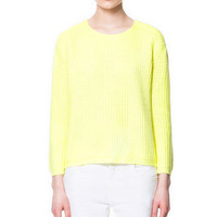 KNITTED SWEATER WITH ZIP AT THE BACK - Knitwear - Woman - ZARA United Kingdom