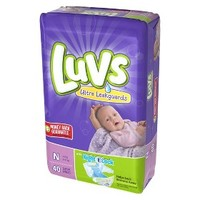Luvs Baby Diapers Jumbo Pack Size Newborn (40 Count)