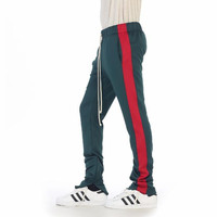 GREEN RED -TRACK PANTS