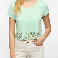 Pins And Needles Laser-Cut Cropped Top