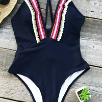 Cupshe Rainbow Bridge Crossed One-piece Swimsuit