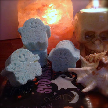 Funeral Parlor Ghost Shaped Bath Bombs--Perfect Spooky Gift for Goths & Morticians! Smells better than the dead! Vegan and Cruelty Free!!