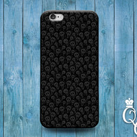 iPhone 4 4s 5 5s 5c 6 6s plus + iPod Touch 4th 5th 6th Gen Fun Cute Grey Black Skull Pattern Collage Design Cover Funny Pirate Cool Case