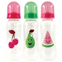 Nurtria Basic 3-Pack BPA Free Easy Grip Baby Bottle 8 Ounce | Affordable Infant Clothing