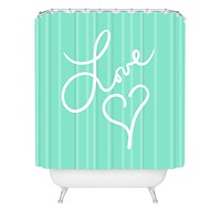 Lisa Argyropoulos Love Beat Shower Curtain