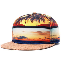 Sunset Snapback Hat