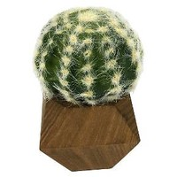 Artificial Cactus in Wood Pot Small - Threshold™