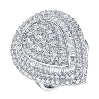 Sterling Silver Wedding Ring Ladies Engagement Cubic Zirconia White Gold Finish