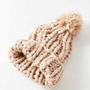 Chunky Knit Pompom Beanie | Urban Outfitters Canada