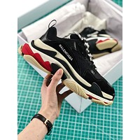 Balenciaga Triple S Trainers Black Red Sneakers