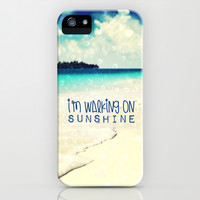 I'M WALKING ON SUNSHINE - for iphone iPhone & iPod Case by Simone Morana Cyla