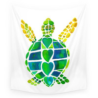 Society6 Turtle Love Wall Tapestry