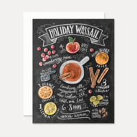 Holiday Wassail Recipe - A2 Note Card