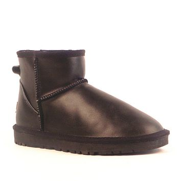 UGG> snow boots leather boots, female + male-2