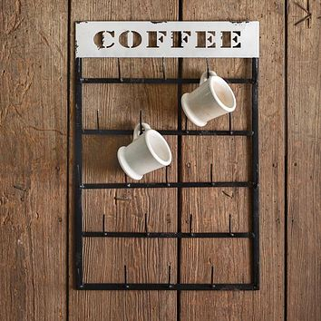 Hanging Coffee Mug Rack