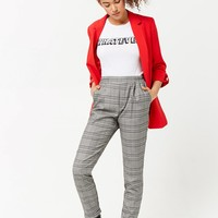 Glen Plaid Cuffed Pants
