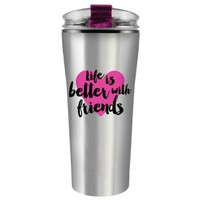 Life is Better with Friends Stainless Steel Travel Mug