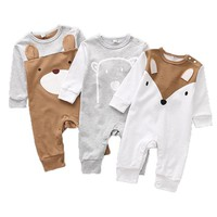 Cotton Baby Rompers Autumn Baby Girl Clothing Cartoon Baby Boy Clothes Newborn Clothes Roupas Bebe Infant Baby Jumpsuits