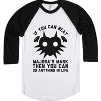 Beating Majora's Mask-Unisex White/Black T-Shirt
