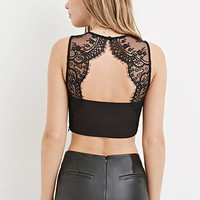 Lace-Back Crop Top