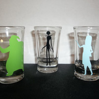 Nightmare before Christmas SET OF THREE Personal Double Shot Glasses