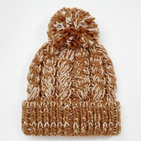 ASOS | ASOS Cable Bobble Beanie in Camel at ASOS