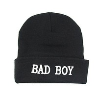 Perfect Letter Embroidery Women Men Beanies Winter Knit Hat Cap