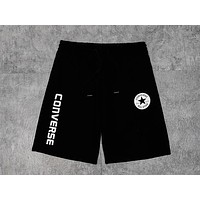 Converse 2019 new men and women models breathable casual shorts Black