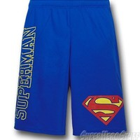 Superman Logo and Symbol Mesh Shorts