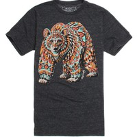 Riot Society Ornate Grizzly Bear T-Shirt - Mens Tee - Black