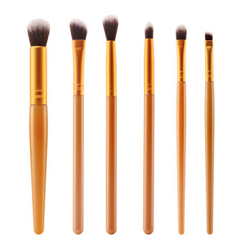 2017 6PCS Powder Foundation Eyeshadow Eyeliner Cosmetic brush Beauty Professional Makeup brushes Sets Pinceis de maquiagem