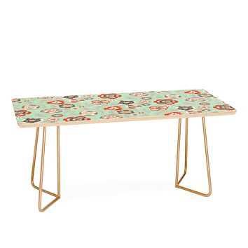 Pimlada Phuapradit Candy Floral Baby Blue Coffee Table