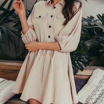 New fashion dress casual women's loose A-line skirt cotton