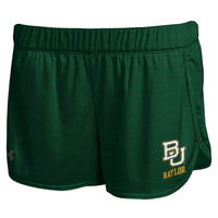 Baylor Bears Under Armour Women's Performance Mesh Shorts – Green