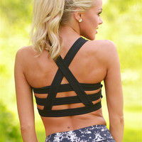 Up For The Challenge Sports Bra - Black