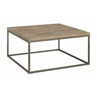 Alana Square Acacia Wood Top Coffee Table