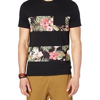 Floral Mesh Striped Tee