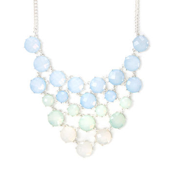 Peyton Light Blue Ombre Opal Crystals Statement Necklace