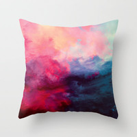Reassurance Throw Pillow by Caleb Troy