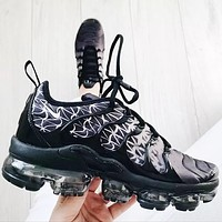 Nike air vapormax plus Fashion casual shoes glitter texture Sneakers Black