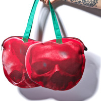 Kreepsville 666 Cherry Skull Tote Bag Red One