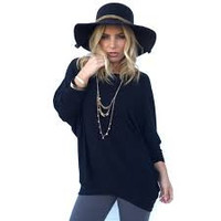 Heartless Jersey Tunic Top In Black