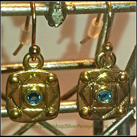 Classic Chic Gold Geometric Earrings/ Modest Everyday Jewelry/ Delicate Drop Earrings