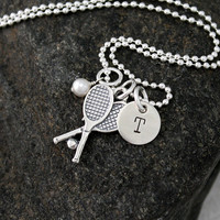 Tennis Necklace - Sterling Silver Personalized Necklace