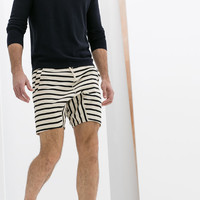 NAUTICAL STRIPE BERMUDA SHORTS