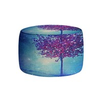Ottoman Foot Stool Pouf Round or Square from DiaNoche Designs by Monika Strigel Home Decor and Bedroom Ideas - Song of the Winterbird